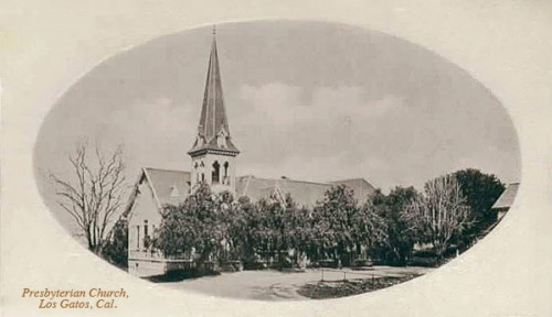Vintage postcard circa 1905: Presbyterian Church on Church Street near Forbes Mill